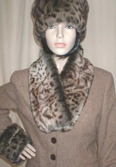 Ocelot Faux Fur Neck Scarf