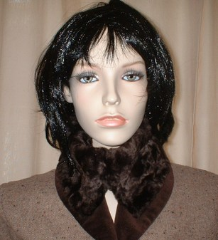 Chocolate Astra Faux Fur Collar