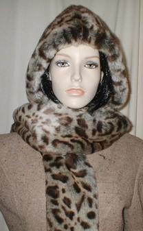 Ocelot Faux Fur Hoodie