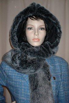 Arctic Wolf Faux Fur Hoodie