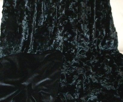 Black Astra Faux Fur Throw