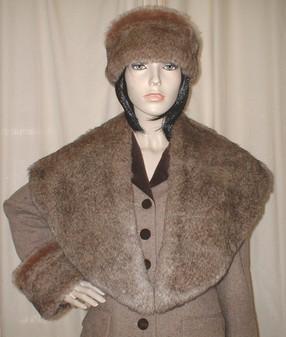 Honey Bear Faux Fur Shawl Collar