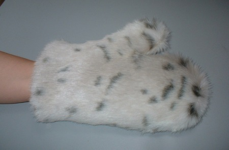 Lynx Faux Fur Massage Mitt