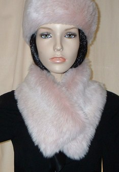 Pink Champagne Faux Fur Long Collar
