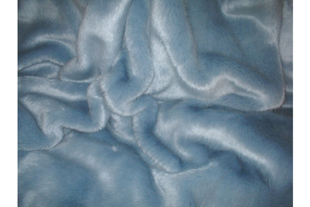 Powder Blue Faux Fur SECONDS Per Meter