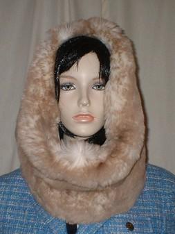 Cream Caramel Faux Fur Cowl/Neck Warmer