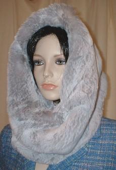 Silver Sable Faux Fur Cowl