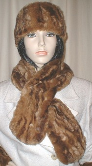 Vintage Gold Astra Faux Fur Pull Through Scarf