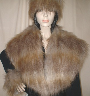Coyote Faux Fur Shawl Collar
