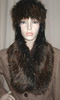 Kodiac Bear Faux Fur Neck Scarf