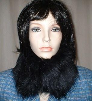 Black Bear Faux Fur Collar