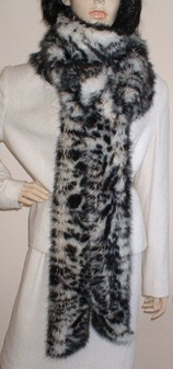 Panther Faux Fur Super Long Scarf
