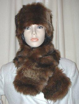 Russian Sable Faux Fur Neck Scarf