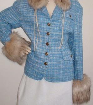 Fawn Musquash Faux Fur Cuffs