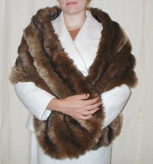 Russian Sable Faux Fur Stole