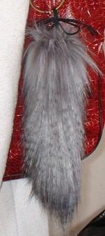 Siberian Wolf Faux Fur Tail Handbag Key Charm