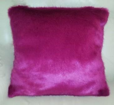 Hot Pink Mink Faux Fur Cushion 61x61cm (24 inches)