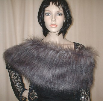 Siberian Wolf Faux Fur Fling