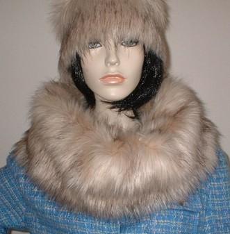 Fawn Musquash Faux Fur Cowl/ Neck Warmer