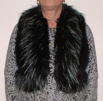 Pepe and Black Mink Faux Fur Body Warmer