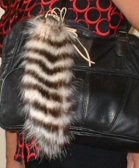 Sumatra Tiger Faux Fur Tail Handbag Key Charm