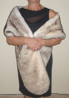 Polar Fox Faux Fur Slim Stole