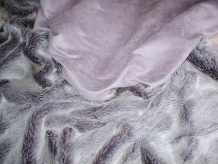 Lavender Faux Suede Swatch