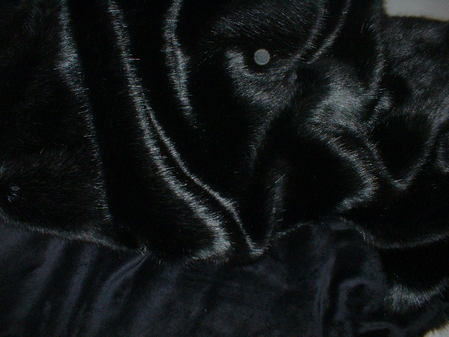 Black Mink Faux Fur Throw