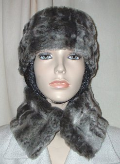 Vintage Silver Astra Faux Fur Collar