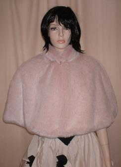 Pink Champagne Faux Fur Cape