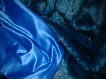 Cornflower Blue Duchess Satin swatch
