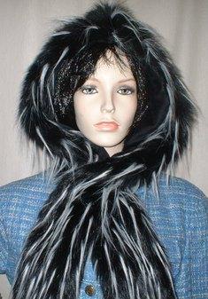 Porcupine Faux Fur Hoodie
