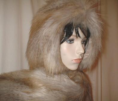 Coyote Faux Fur Hoodie