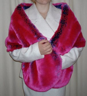 Pink Panther Faux Fur Stole