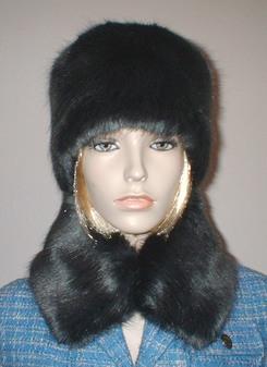 Charcoal Mink Faux Fur Collar