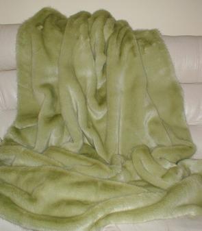 Pistachio Faux Fur Fabric Per Meter