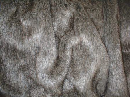 Timber Wolf Faux Fur Swatch