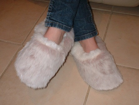 Pink Smoothie Faux Fur Slippers