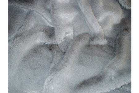 Silver Mink Faux Fur Round Cushion