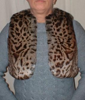 Ocelot Faux Fur Bolero/Waistcoat