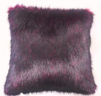 Tuscan Red Faux Fur Cushion 51 x 51cm