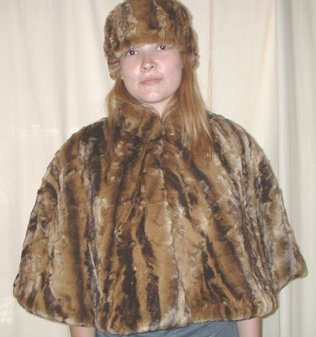 Vintage Gold Astra Faux Fur Cape