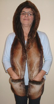 Madagascar Faux Fur Hoodie with Pockets