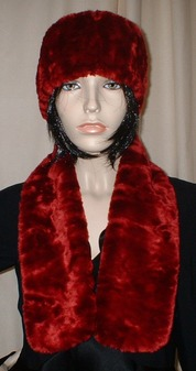 Scarlet Crush Faux Fur Neck Scarf