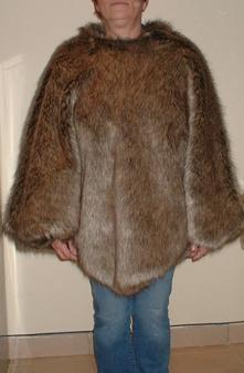 Husky Faux Fur Poncho