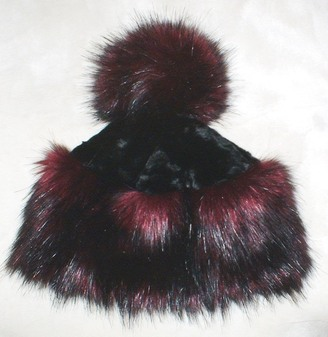 Tuscan Red Faux Fur Bobble Hat