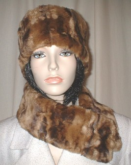 Vintage Gold Astra Faux Fur Long Collar