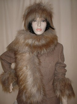 Coyote Faux Fur Scarf