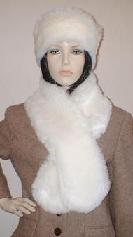 Marilyn Faux Fur Pull Through Scarf