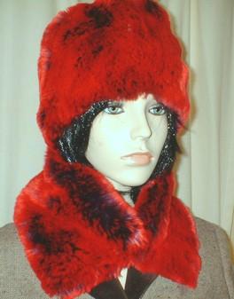 Devil Red Faux Fur Hat